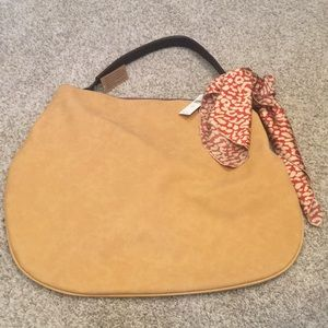 NWT Anthropologie suede bag